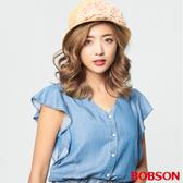 BOBSON 女款荷葉袖天絲棉上衣 (28104-53  )