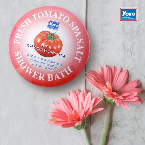 【 YOKO 】 優菓 番茄精華 精油 雙效 乾式 去角質 泡浴鹽 240g 沐浴鹽 原裝進口 - 006178