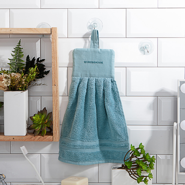 Turkey經典棉柔擦手巾-綠藍 -生活工場