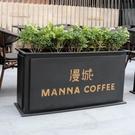 花架 商業街戶外園藝花盆架 簡約現代鐵藝花架 咖啡廳庭院綠化種植花箱
