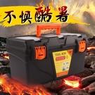 工具箱 手提式家用便攜收納盒大號塑料五金車載多功能維修工具箱RM
