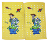 【卡漫城】 玩具總動員 小 毛巾 2條一組 黃底 棉 Toy Story 胡迪 三眼怪 巴斯光年 童巾 洗臉 擦手