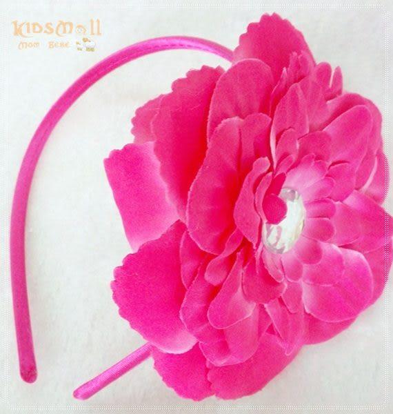 Cutie Bella牡丹花髮箍-Rose Pink