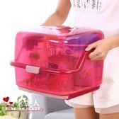 寶寶透明奶瓶收納箱帶蓋防塵收納盒便攜瀝水晾乾架奶瓶架 全店88折特惠