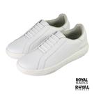 Royal Astre 白色 皮質 套入 休閒運動鞋 男款NO.B1655【新竹皇家 06901-000】