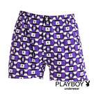 【Play Boy】MIT製造 方塊紫兔...