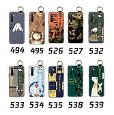realme XT 手機殼 保護殼 腕帶支架防摔 全包邊外殼 手機套 卡通保護套 浮雕軟殼 後殼