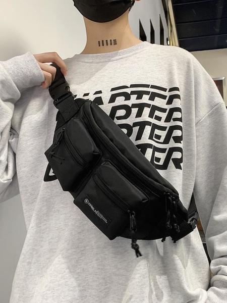潮牌側背包日系小挎包斜背包男胸包2021新款男士腰包手機小包包潮 coco