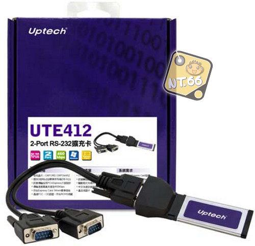 登昌恆 UTE412 2-port RS-232 Express介面 擴充卡 Uptech