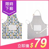 居家時尚日式棉麻防油口袋圍裙(1入) 【小三美日】款式隨機出貨 原價$99