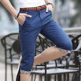 男士七分褲休閑短褲夏季寬松五分褲