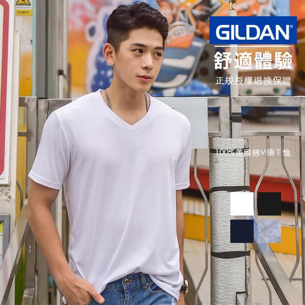 GILDAN經銷 短T 素T 美國棉 亞規素面V領T 短袖上衣 【GD63v00】63v00型
