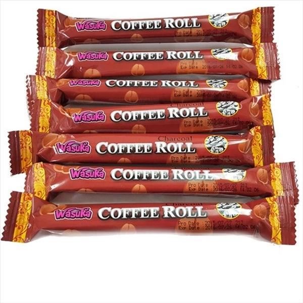 Wasuka爆漿特級炭燒咖啡捲心酥 600g*10包【2019040930003】(印尼零食)