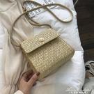 小包包女新款韓版百搭時尚側背草編包洋氣編織斜背小方包 黛尼時尚精品
