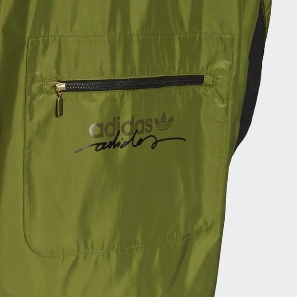 J- adidas ORIGINALS R.Y.V. 綠色 男款 連帽 運動外套 風衣外套 愛迪達 GJ6741