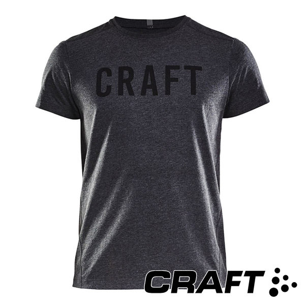 【CRAFT】男 短袖圓領排汗衣 Deft2.0SSTeeM『黑灰』1905899 慢跑 運動 排汗 快乾 透氣  跑步 三鐵