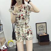 套裝女夏季時尚2018新款潮韓版洋氣夏裝雪紡兩件套 潮流小鋪
