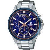 【台南 時代鐘錶 CASIO】EDIFICE 宏崑公司貨 EFV-530DB-2A 賽車藍系列時尚運動風格錶款