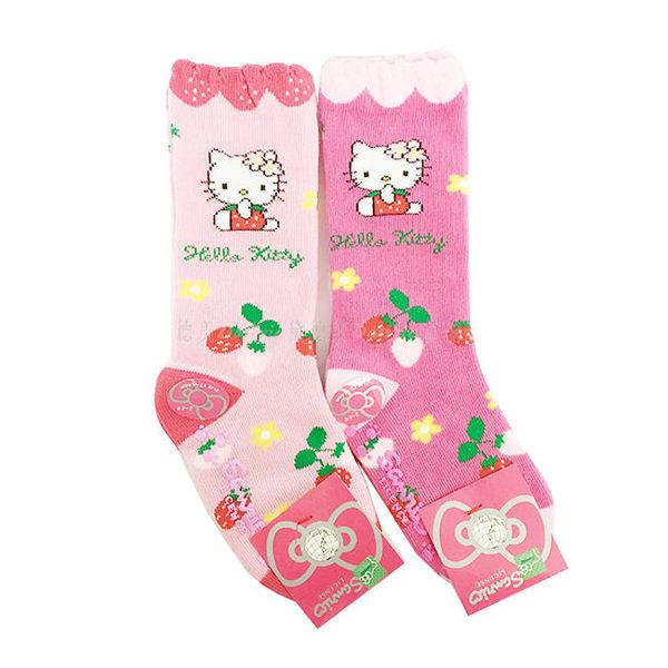 【KP】12-14cm 兒童襪 Hello Kitty SANRIO 三麗鷗 草莓 花花 寶寶 長襪 卡通襪 襪子 防滑