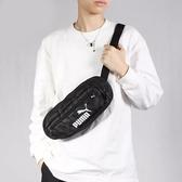 PUMA 黑 LOGO 字母 背帶 腰包小包 隨身包 包包 (布魯克林) 07713501