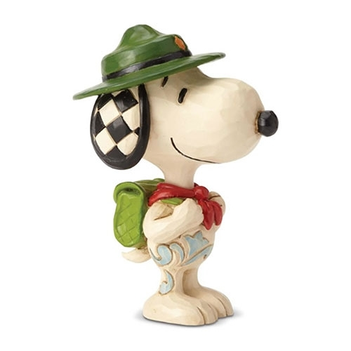 《Enesco精品雕塑》SNOOPY童子軍迷你塑像-Snoopy Boy Scout(Peanuts by Jim Shore)★funbox★_EN97322