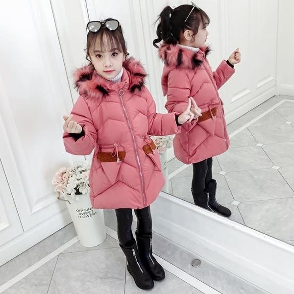 潮流秋冬羽絨服羽絨外套 韓版外套中大童上衣 夾克外套兒童加絨棉服 時尚休閒女童外套女孩棉襖
