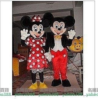 W百貨米老鼠卡通人偶服裝米奇米妮卡通人偶服裝表演服道具服情侶報裝婚慶道具服裝MY~425
