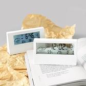 鬧鐘 日式簡約現代多功能電子時鐘學生數字桌面用臥室靜音透明小型鬧鐘【幸福小屋】