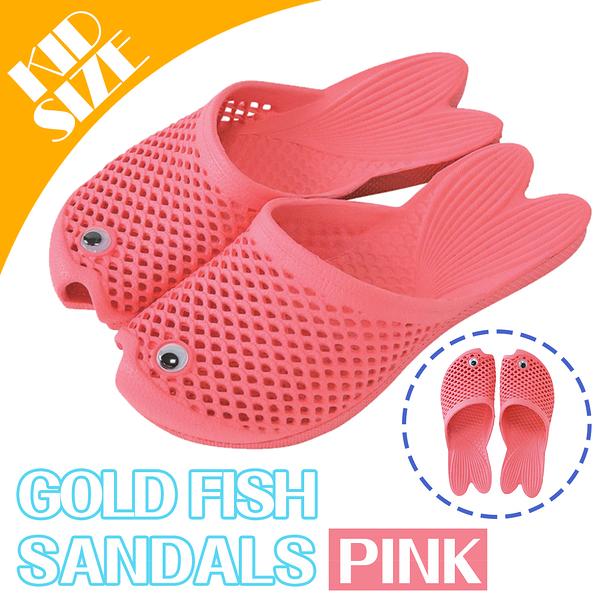 【日本 SPICE 】 戶外郊遊 兒童 粉色 色彩鮮艷 療癒系 海灘 金魚拖鞋