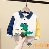 兒童t恤男童polo衫長袖中小童卡通男寶翻領寶寶【淘嘟嘟】