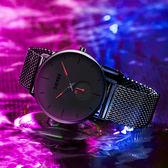 手錶男 手表男士簡約潮流學生概念超薄防水機械石英電子表 夢藝家