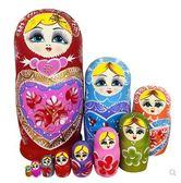 正品俄羅斯特色10層套娃創意抖音禮物木質進口15層玩具  盯目家