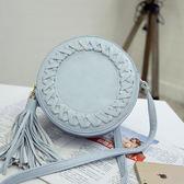 現貨-斜背包-俏皮可愛圓型編織流蘇斜背包 Kiwi Shop奇異果0412【SYY2097】
