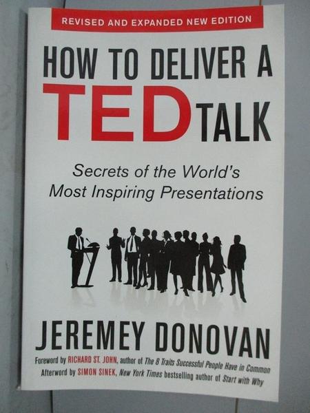 【書寶二手書T4/原文書_ZKM】How to Deliver a TED Talk: Secrets of the W