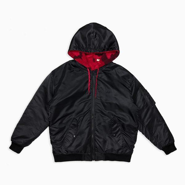 Levis 男女同款 雙面穿飛行外套 / 內裡紅迷彩
