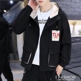 冬季上衣工裝夾克男士韓版修身秋冬款牛仔夾克潮流男裝外套男外衣-ifashion