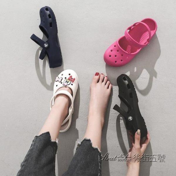 cross洞洞鞋女鞋卡琳克駱格涼鞋休閒鞋crocs卡路馳拖鞋夏 202494 後街五號