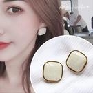 銀針耳環《可改耳夾式》S925銀針復古方形耳針 (SRA0126) AngelNaNa