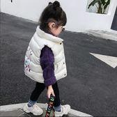 兒童秋冬馬甲女童2018新款中小童寶寶面包服百搭加絨加厚背心外套  莉卡嚴選