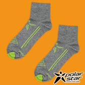 PolarStar 中性排汗短筒襪  露營.戶外.登山.排汗襪..彈性襪.紳士襪.休閒襪.長襪.短襪- P17521  炭灰