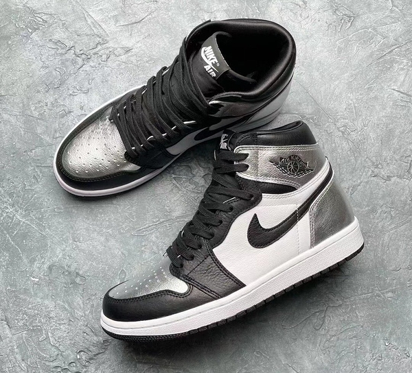 IMPACT Air Jordan 1 Retro High OG Silver 一代 黑銀 女鞋 CD0461-001