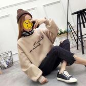 新款韓版春裝加絨加厚套頭衛衣女寬鬆