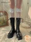 2雙裝 過膝蕾絲花邊襪長筒靴襪洛麗塔薄款少女甜美花邊襪【橘社小鎮】