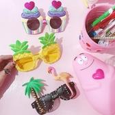 度假歐美INS休閒創意派對菠蘿火列鳥蛋糕凹造型墨鏡太陽眼鏡  魔法鞋櫃