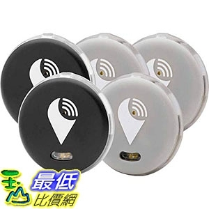 追蹤器 TrackR pixel - Bluetooth Tracking Device. Key Tracker. Phone Finder Wallet Locator (5 Pack)