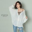 PUFII-襯衫 翻領素色棉麻襯衫- 0507 現+預 夏【CP18400】