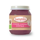 BABYBIO 有機蘋果藍莓鮮果泥/果泥130ml-法國原裝進口4個月以上嬰幼兒專屬副食品