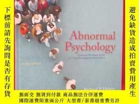 二手書博民逛書店Abnormal罕見Psychology: Clinical P