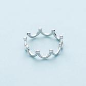 925純銀食指戒指個性皇冠