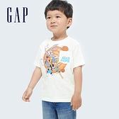 Gap男幼童 Gap x Warner Bros 合作系列純棉短袖T恤 687909-白色